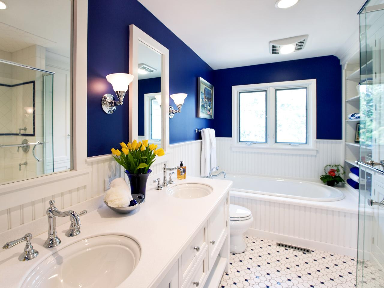 turning a small bathroom into a unique look